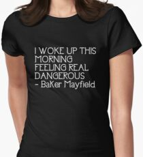 Baker Mayfield Cleveland Browns Feeling Dangerous Women s Fitted T-Shirt 66c0ace0f