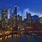 Chicago Night Lights by mrthink