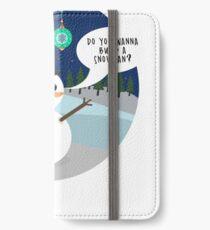 Wanna build a snowman cute Christmas Items iPhone Wallet/Case/Skin
