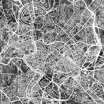 Rome Italy City Map by ArtPrints