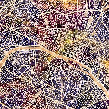 Paris France City Map by ArtPrints