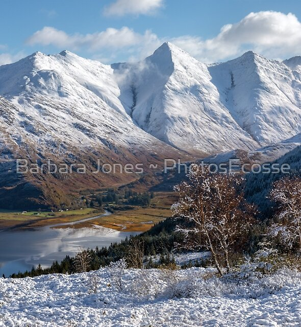 Five Sisters of Kintail. Snow Scene. Mam Ratagan. Scottish Highlands. by Barbara  Jones ~ PhotosEcosse