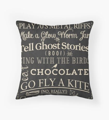 Cabin Rules I Throw Pillow