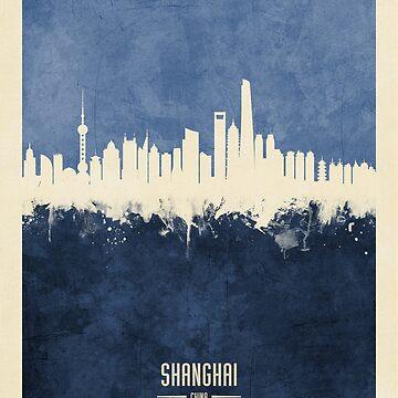 Shanghai China Skyline by ArtPrints