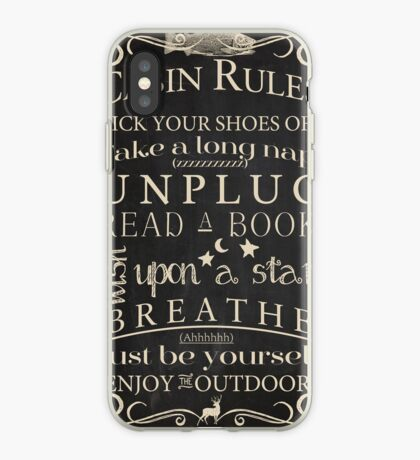 Cabin Rules II iPhone Case