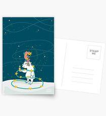 Yeti & Hirsch als Weihnachtsbaum Postkarten