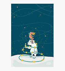 Yeti & Hirsch als Weihnachtsbaum Fotodruck