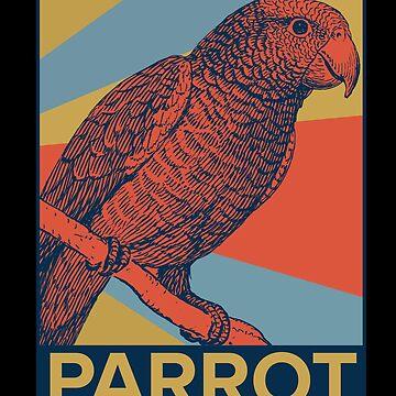 Parrot bird swarm by GeschenkIdee