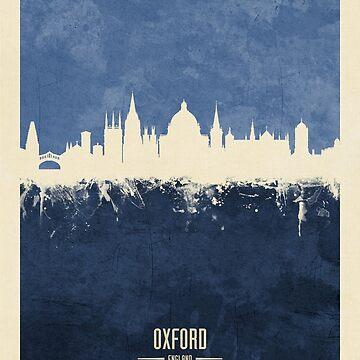 Oxford England Skyline by ArtPrints