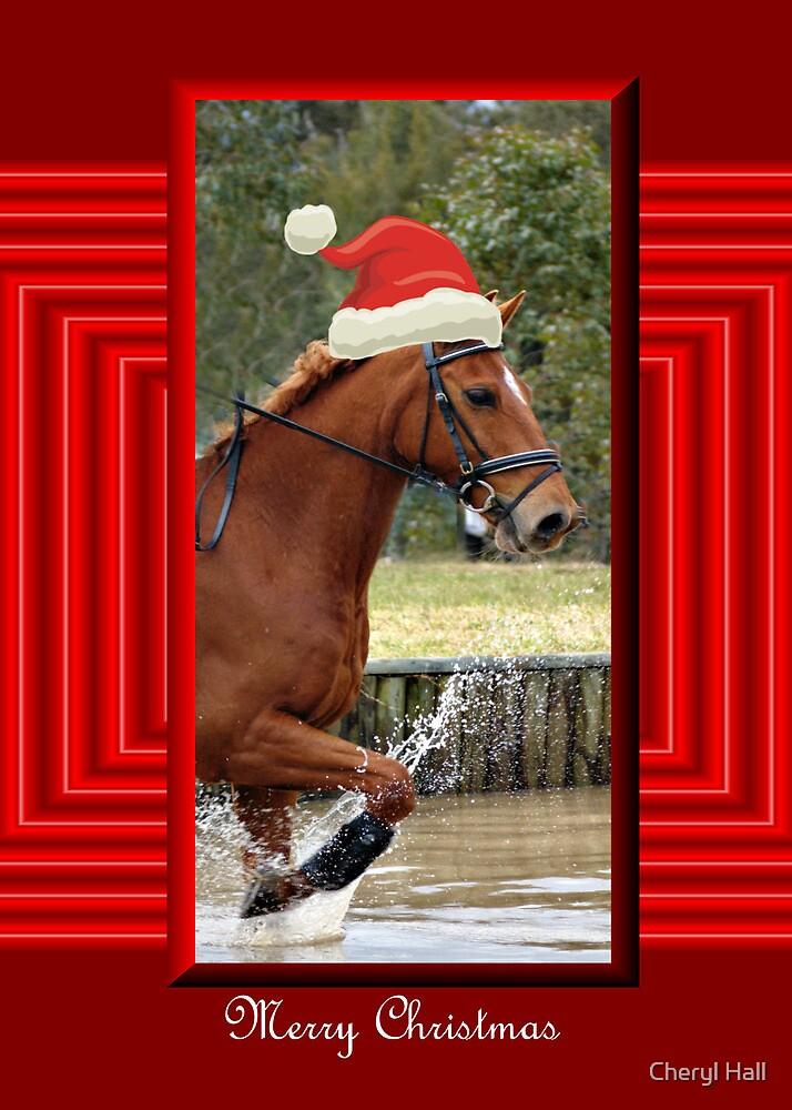 Christmas Horse Racing.Santa Horse Racing Christmas Card Merry Christmas By