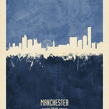 Manchester England Skyline by ArtPrints