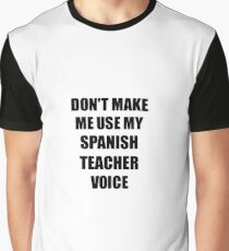 Spanish Teacher Gift for Coworkers Funny Present Idea Graphic T-Shirt
