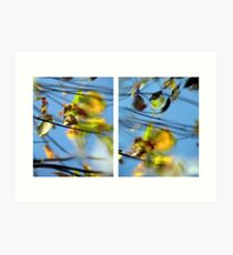 Another Day Goes By - Diptych Art Print