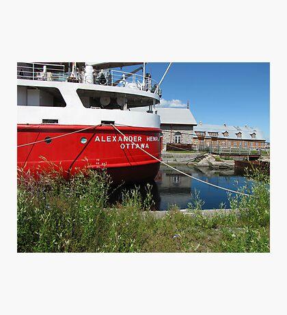 Red Coast Guard Ship Photographic Print