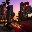 Sunset downtown LA by DaraFox