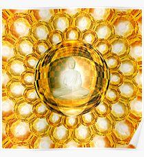 Golden Light Buddha Poster