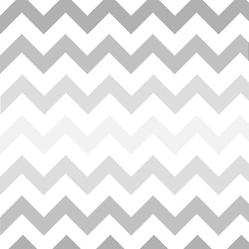 Gradient Grey Chevron on White by TimorousEclectc