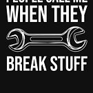 Funny Mechanic Humor Wrench Graphic Gift T-shirt by zcecmza