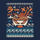The Great Ramen off kanagawa Christmas by Ilustrata Design