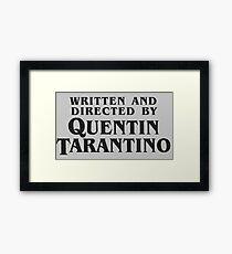 QUENTIN TARANTINO MERCH Framed Print