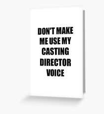 Casting Director Gift for Coworkers Funny Present Idea Greeting Card