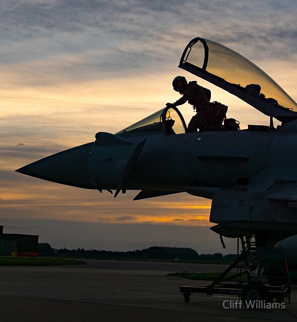Night Sortie, RAF Conningsby, Lincolnshire England by Cliff Williams