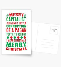Merry Corruption Of A Pagan Holiday Postcards