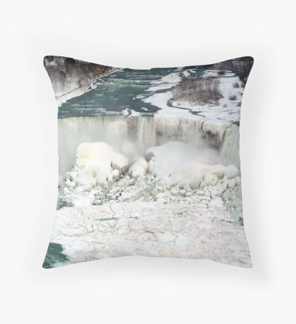 Niagara Falls at Winter. Throw Pillow
