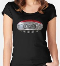 Vintage Dennis fire engine logo Women's Fitted Scoop T-Shirt