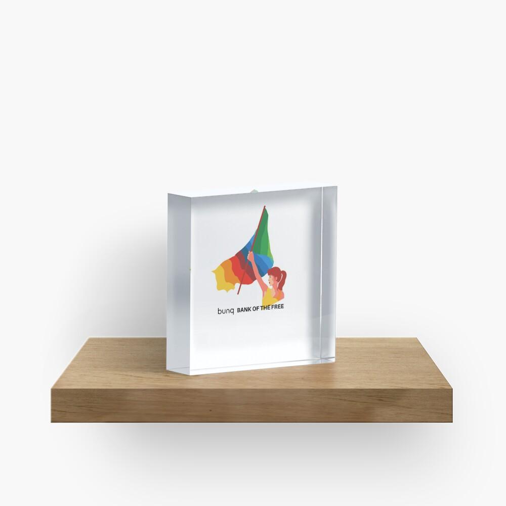 bunq flag Acrylic Block