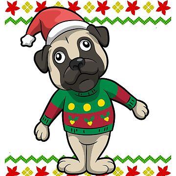 Pug Dog Ugly Christmas by frittata