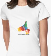 bunq flag Women's Fitted T-Shirt
