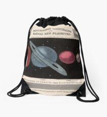 Vintage Solar System Size Comparison Chart (1855) Drawstring Bag