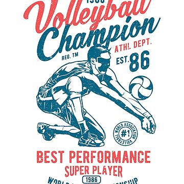 WORLD TOURNAMENT 1986 VOLLEYBALL CHAMPION BEST PERFORMANCE SUPER PLAYER    T-SHIRT by daniele2016