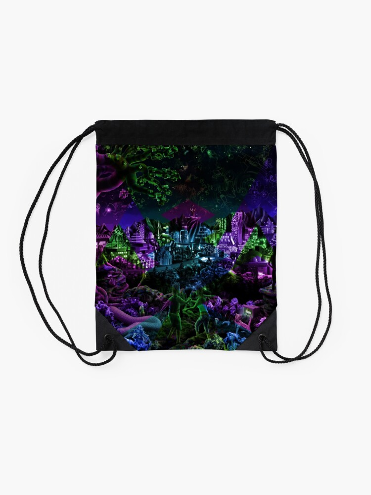 Alternate view of FutuRetro Dreams Drawstring Bag