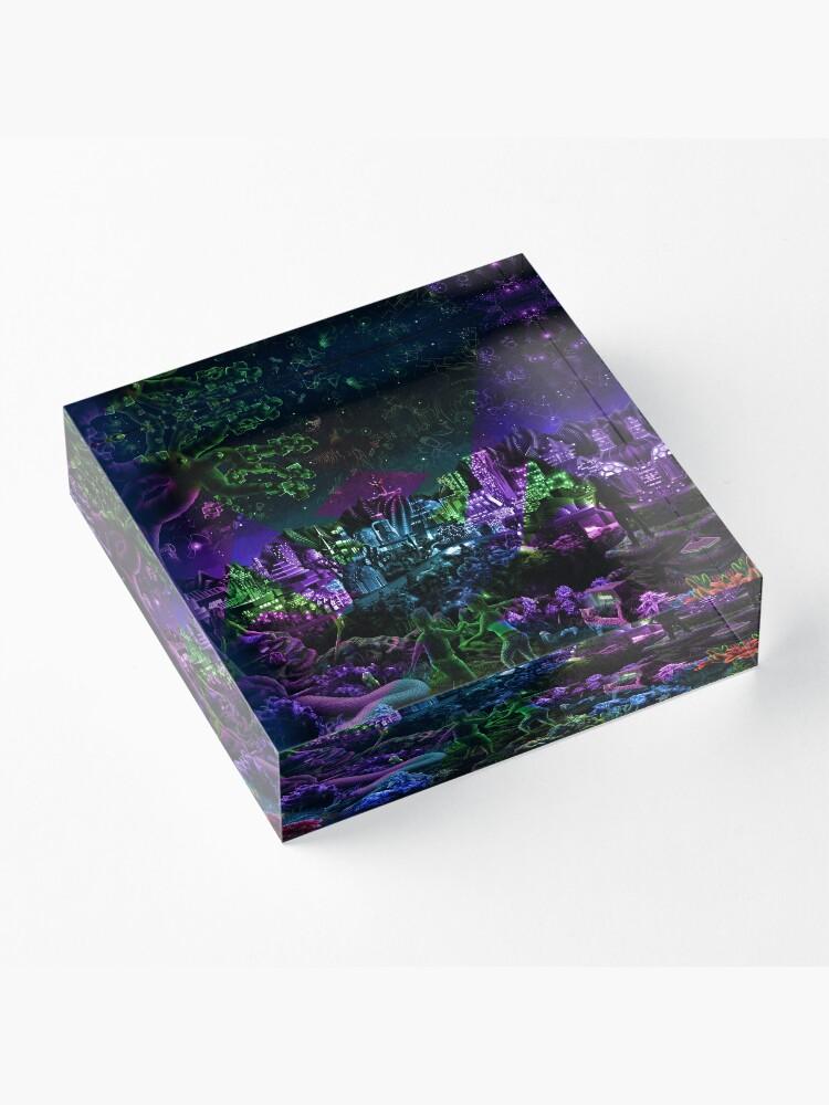 Alternate view of FutuRetro Dreams Acrylic Block