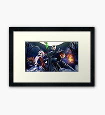 Skellington Christmas Framed Print