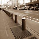#Sidewalk #ZebraCrossing #NewYork #Manhattan #Brooklyn #NewYorkCity #architecture #street #building #tree #car by znamenski