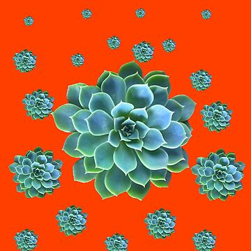 CUMIN COLOR PATTERN OF BLUE SUCCULENT GARDEN  by sharlesart