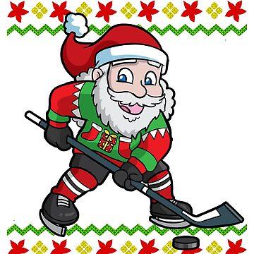 Santa Hockey Ugly Christmas by frittata
