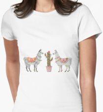llamas Fitted T-Shirt