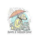 Adopt Save a Shelter Dog Umbrella by MudgeStudios