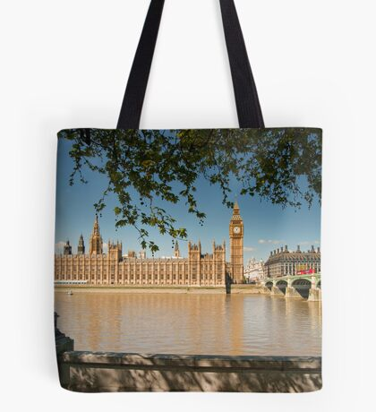 Thames View of Big Ben and Houses of Parliament Tote Bag