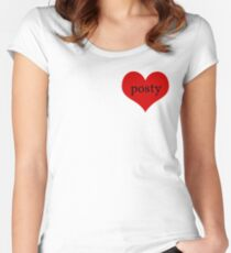 Posty love Women's Fitted Scoop T-Shirt