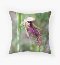 Calochilus robertsonii (Purplish Beard-orchid) Throw Pillow