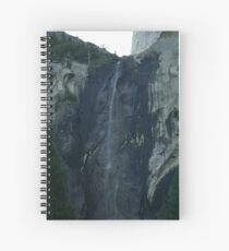 Little flow at BridalVale Falls at Yosemite Spiral Notebook