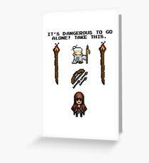 Pixelart retrogaming adventure Greeting Card