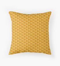 Yellow Goyards Throw Pillow