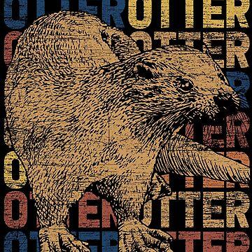 Otter animal by GeschenkIdee