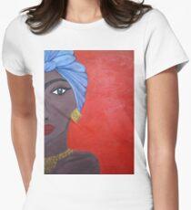 Afrikanerin Tailliertes T-Shirt für Frauen